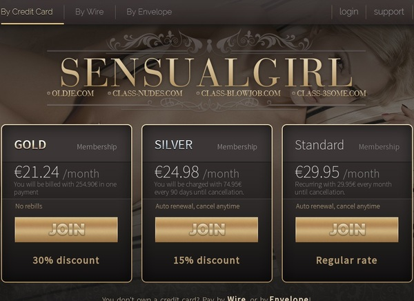 Sensualgirl.com Sign Up Again