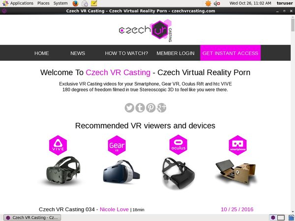 Czech VR Casting Site Passwords